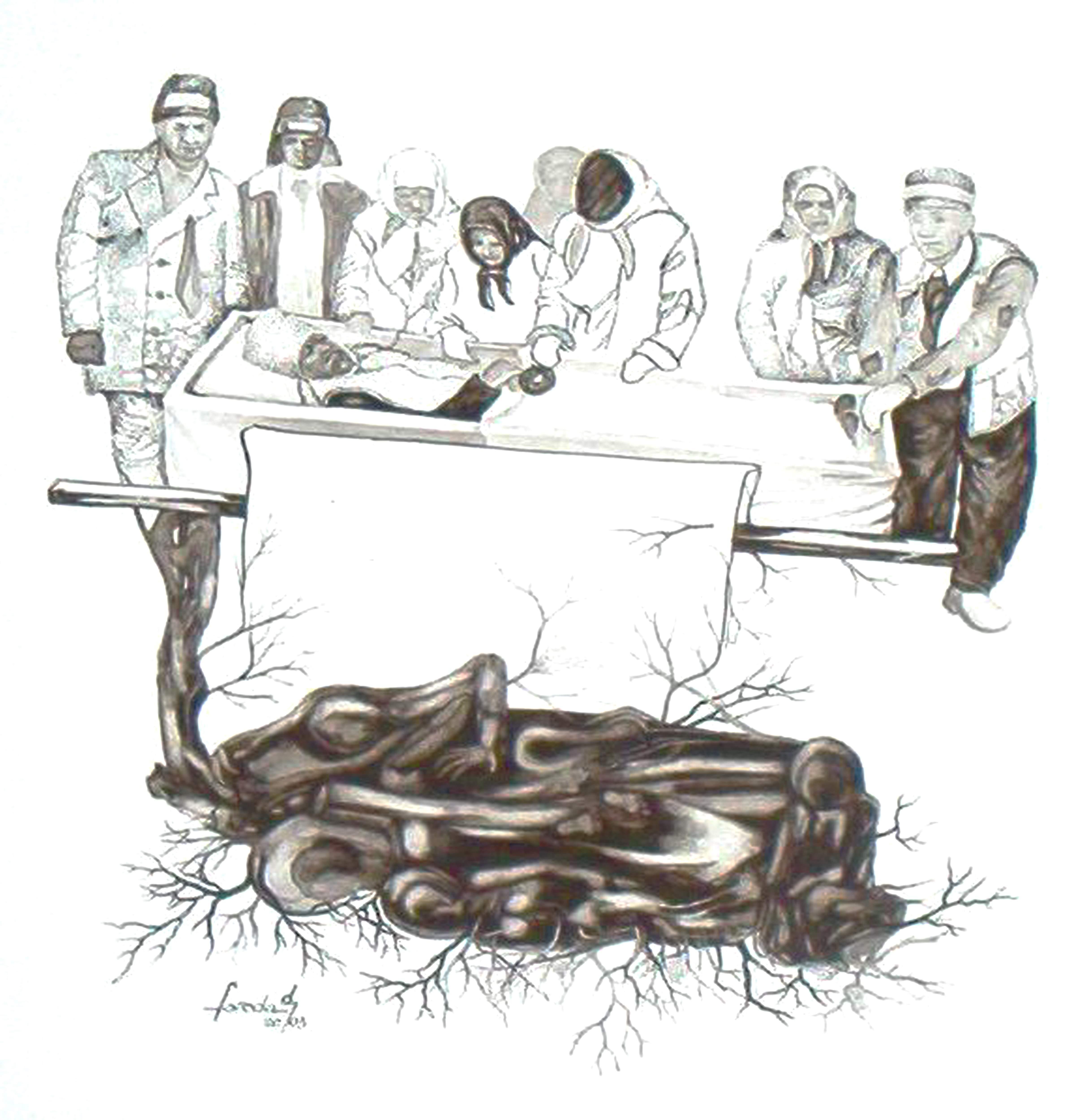 ilustratie de carte inmormantareladamian2003